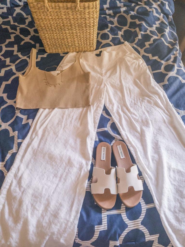 Crop top and linen pants